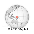 Outline Map of Bubwai, rectangular outline