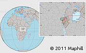 Gray Location Map of Mamvu