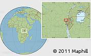 Savanna Style Location Map of Mamvu