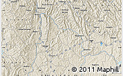 """Shaded Relief Map of the area around 1°55'32""""S,29°49'30""""E"""