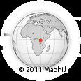 Outline Map of Gikondo, rectangular outline
