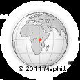 Outline Map of Kibungo, rectangular outline