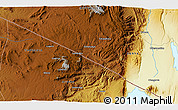 """Physical 3D Map of the area around 1°55'32""""S,35°46'29""""E"""