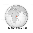 "Outline Map of the Area around 1° 55' 32"" S, 35° 46' 29"" E, rectangular outline"
