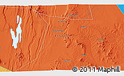 """Political 3D Map of the area around 1°55'32""""S,36°37'30""""E"""
