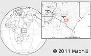 Blank Location Map of Selengai
