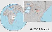 Gray Location Map of Selengai
