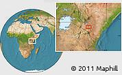 Satellite Location Map of Selengai
