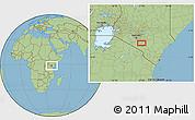Savanna Style Location Map of Selengai
