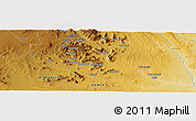 Physical Panoramic Map of Ngosini East