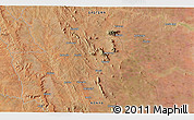 """Satellite 3D Map of the area around 1°55'32""""S,38°19'30""""E"""