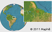 "Satellite Location Map of the area around 1°55'32""S,47°31'29""W"