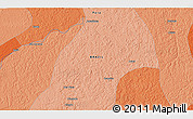 """Political 3D Map of the area around 1°55'32""""S,48°22'30""""W"""