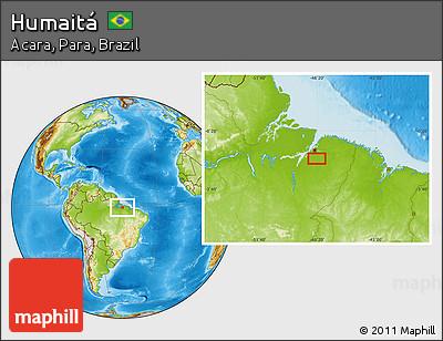 Physical Location Map of Humaitá