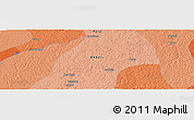 """Political Panoramic Map of the area around 1°55'32""""S,48°22'30""""W"""