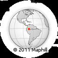 Outline Map of El Encanto, rectangular outline