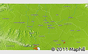 """Physical 3D Map of the area around 1°55'32""""S,79°49'29""""W"""