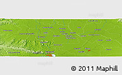 """Physical Panoramic Map of the area around 1°55'32""""S,79°49'29""""W"""