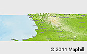 """Physical Panoramic Map of the area around 1°55'32""""S,80°40'30""""W"""