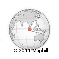 Outline Map of Tuapejat, rectangular outline