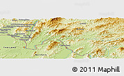 Physical Panoramic Map of Wān Kawnghsang