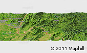 Satellite Panoramic Map of Wān Hpak-hat