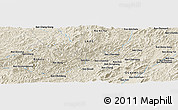 Shaded Relief Panoramic Map of Ban Hat-Hom
