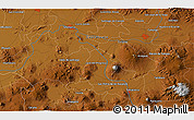 """Physical 3D Map of the area around 20°22'55""""N,101°4'29""""W"""