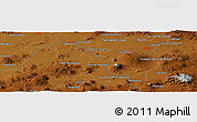 """Physical Panoramic Map of the area around 20°22'55""""N,101°4'29""""W"""