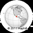 Outline Map of Yurecuaro, rectangular outline
