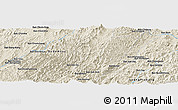 Shaded Relief Panoramic Map of Ban Bôm