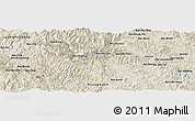 "Shaded Relief Panoramic Map of the area around 20° 22' 55"" N, 103° 46' 30"" E"