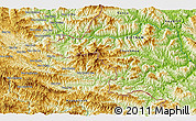 """Physical 3D Map of the area around 20°22'55""""N,104°37'30""""E"""