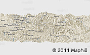 Shaded Relief Panoramic Map of Ban Bong