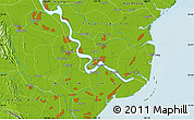 """Physical Map of the area around 20°22'55""""N,106°19'29""""E"""