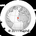 Outline Map of Atâr, rectangular outline