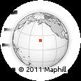 Outline Map of Halaula, rectangular outline