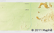 """Physical 3D Map of the area around 20°22'55""""N,35°46'29""""E"""