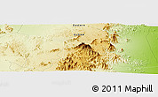 "Physical Panoramic Map of the area around 20° 22' 55"" N, 36° 37' 30"" E"