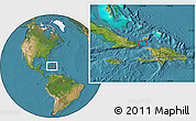 """Satellite Location Map of the area around 20°22'55""""N,73°52'30""""W"""