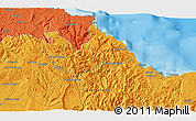 Political 3D Map of Baracoa