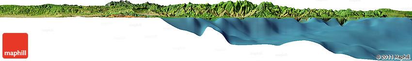Satellite Horizon Map of Baracoa
