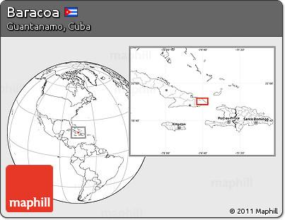 Blank Location Map of Baracoa