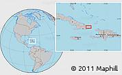 Gray Location Map of Baracoa