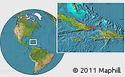Satellite Location Map of Baracoa