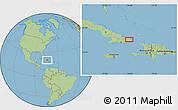 Savanna Style Location Map of Baracoa