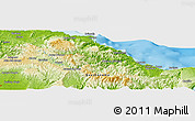 Physical Panoramic Map of La Pasana