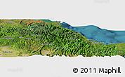 Satellite Panoramic Map of Baracoa