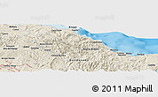 Shaded Relief Panoramic Map of Baracoa