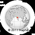Outline Map of Mangrul, rectangular outline